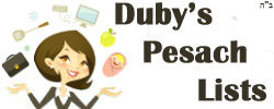 Duby's Pesach Lists